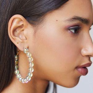 UO Iridescent Bauble Hoop Earrings